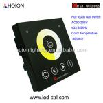 LED Dimming wall switch full touch panel AC90-265V Color temperature adjustor-HX-SWB-CT