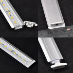 12mm*1.0-1.2 U Channel Aluminum Slot with Cover/Caps for Rigid LED Bar Light-WU-RS4004