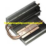 two copper pipes led cooler led heatsink-ST-L08
