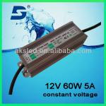 waterproof constant voltage 60w led driver POWER SUPPLY-NV1260C