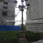Handcarved Cast Copper Lighting Pole with Lion Head-QF-Alice-T003
