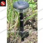 Stainless Steel 10 Inch Round Top Solar Lawn Lamp post-SV-SL-1019