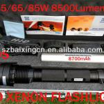 85W HID Xenon 8700mAh Flashlight Torch Hiking and Camping-85W