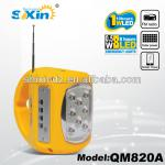 Multifunction Emergency Rechargeable light with FM radio and MP3(QM820A)-QM820A
