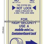 Security signs,Metal Sign,warning sign-TS080