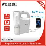 Rechargeable portable emergency light with AC CFL energy saving lamp and mobile charge-WRS-1821