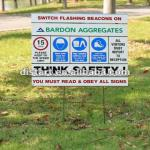 Screen printed Aluminum Safety Signs-6061