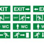 multiple choice of rechargeable Exit led emergency light with good price and CE ROHS approval-FS-EXIT