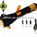 cranking solar camping torch with hammer and belt cutter-ARSD703