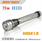Maxtoch HIDX13 USB And Digital Display Battery Superbright 75W HID Torch-HIDX13