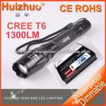 [Dream Trip] 5-Mode 1600 Lumens XM-L T6 LED Flashlight Power By 2*18650 Battery Zoomble Waterproof Torch,led torch-SL-FL-055