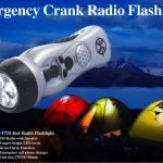 Hand Crank Radio Flashlight-F-1718