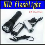 24w hid xenon flashlight ,battery 2200mah ,ballast input voltage 9-16v,6000k,warranty 1 years-L-24HXT13
