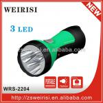 Plastic rechargeable LED flashlight (low cost)-WRS-2204