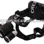LL-6633 3 Mode 1800Lm 1 x CREE XML-T6 + 2 x XP-E Q5 head lamp-LL- 6633