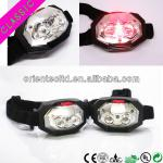 2 led promotional head light with red alarm functon-OT-H802-1R