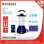 Rechargeable indoor solar lantern with mobile phone charger and radio-WRS-2793M