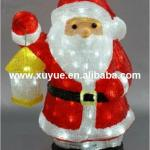 Animated Led outdoor Acrylic santa claus with lantern decoration-SR13C-A35