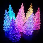 Novelty Colorful dream crystal christmas tree night light colorful Christmas gift Wholesale or OEM-HL107