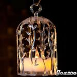 birdcage lantern with big candle-BCL-28/T-wx