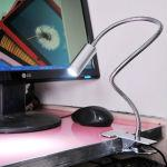 13W Snake Tube Desk Lamp with Clip (Silver)-CA-8601S