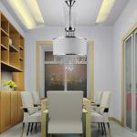 Kiara White Shade 4 light crystal chandelier-MD7938/4