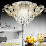Modern hot sell fashion residential crystal ceiling lamp-PX-1009/10+6