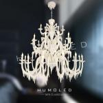 H1264/15+10+5 - New handmade and indoor decorative polyester chandelier lamp-H1264/15+10+5