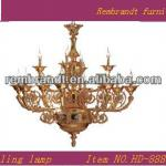 classic metal and crystal ceiling lamp-HD-888-12