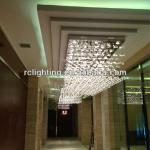 Hotel Project LED Special shape Clear Crystal Pendant Light-RCG-1006