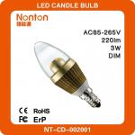 hot e14 220v 3w candle light bulb-NT-CD-002001