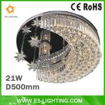 21w 500mm dimmable house ceiling decoration with RGB color-