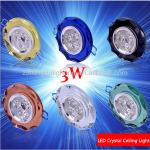 3W LED Downlight Ceiling Lamp indoor Energy saving CE ROHS 300-330lm Cool|Warm White 2 years warranty blue/Green/Gold-TR-TH-C003