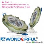 High power 3*1W led crystal ceiling light-WDF-CT006