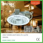 NEW 2XE27 DOWN LIGHTING, DOT GLASS RECESSED DOWN LIGHT-UN020G