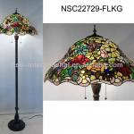 Antique stained glass Tiffany floor lamp-NSC22729-FLKG