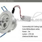Dimmable 15W/1350Lumen LED Ceiling Light/Various Beam Angle-