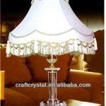 white crystal chandelier table lamp-6088