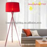 Tripod Farbic Shade Bedroom Study Parlour Stairs Decoration Modern Floor Lamp F7010-F7010