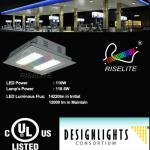Totally New 130W DLC led canopy lights-RL-GAS-120W-CW-CR