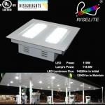 DLC/ES -UL-e40 led canopy light-150 Watt-12000Lumen-120Deg-120/277Volt-ip66 led canopy -outdoor canopy light-RL-GS-150W-CREE