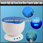 Romantic Night Light Ocean Daren Waves Projector Speaker Lamp, YGA425A-YGA425A