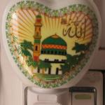Ceramic Aromatherapy Nightlight with Muslim scriptures-Y06