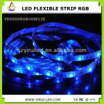 5050 smd rgb 5m /roll, 60pcs/m waterproof 12v flexible led strip ,with CE,ROHS approval-YIRUI5050RGB-30