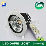 30W SHARP COB led down light, made in China high power led 30w downlight-F8-002-B60-30W
