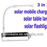 New Design Solar Reading Lamp With Solar Charger For iPhone 5 With Flashlight, Solar Reading Light Indoor and Outdoor-Sunstar