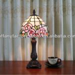 Tiffany Stained Glass Small Decorative Table Lamp--6S1502-6BT587R-6S1502-6BT587R