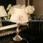 cotton lampshade plastic post desk lamp-Neoviva