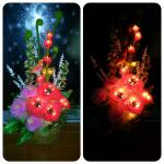L18 New Style decorative handmade flowers table lamp light-L18