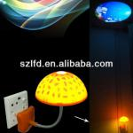 sensor lighting mushroom lamp with led logo projection for advertising-LFD-118